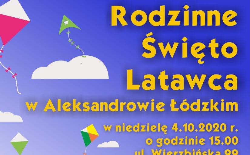 Grafika promująca Rodzinne Święto Latawca w Aleksandrowie Łódzkim
